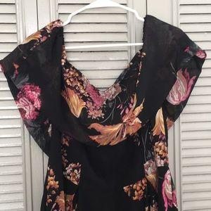 Floral Bardot Midi Dress